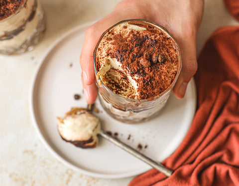 vegan tiramisu coffee cream dessert