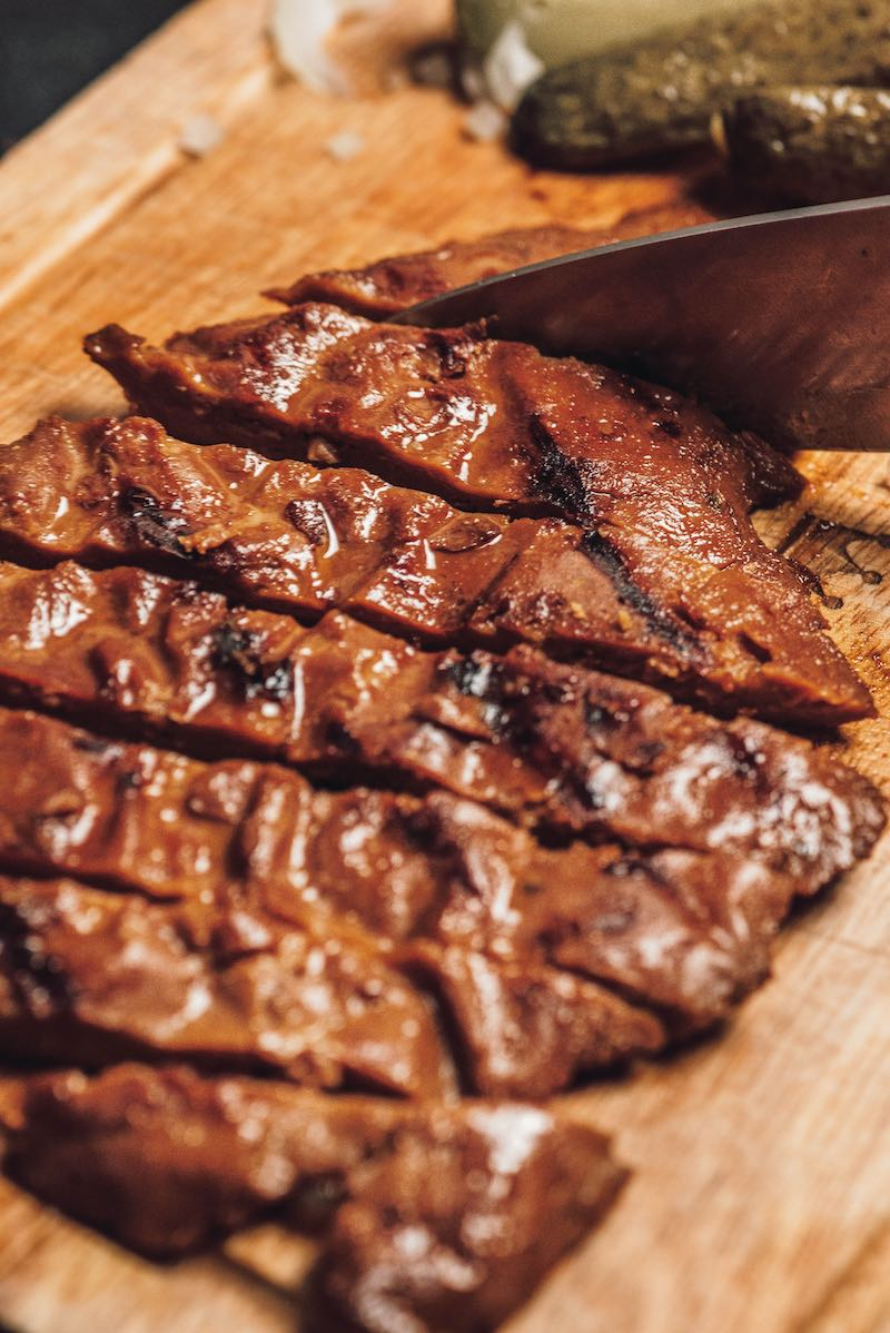 Smoky Flavour Vegan Steak