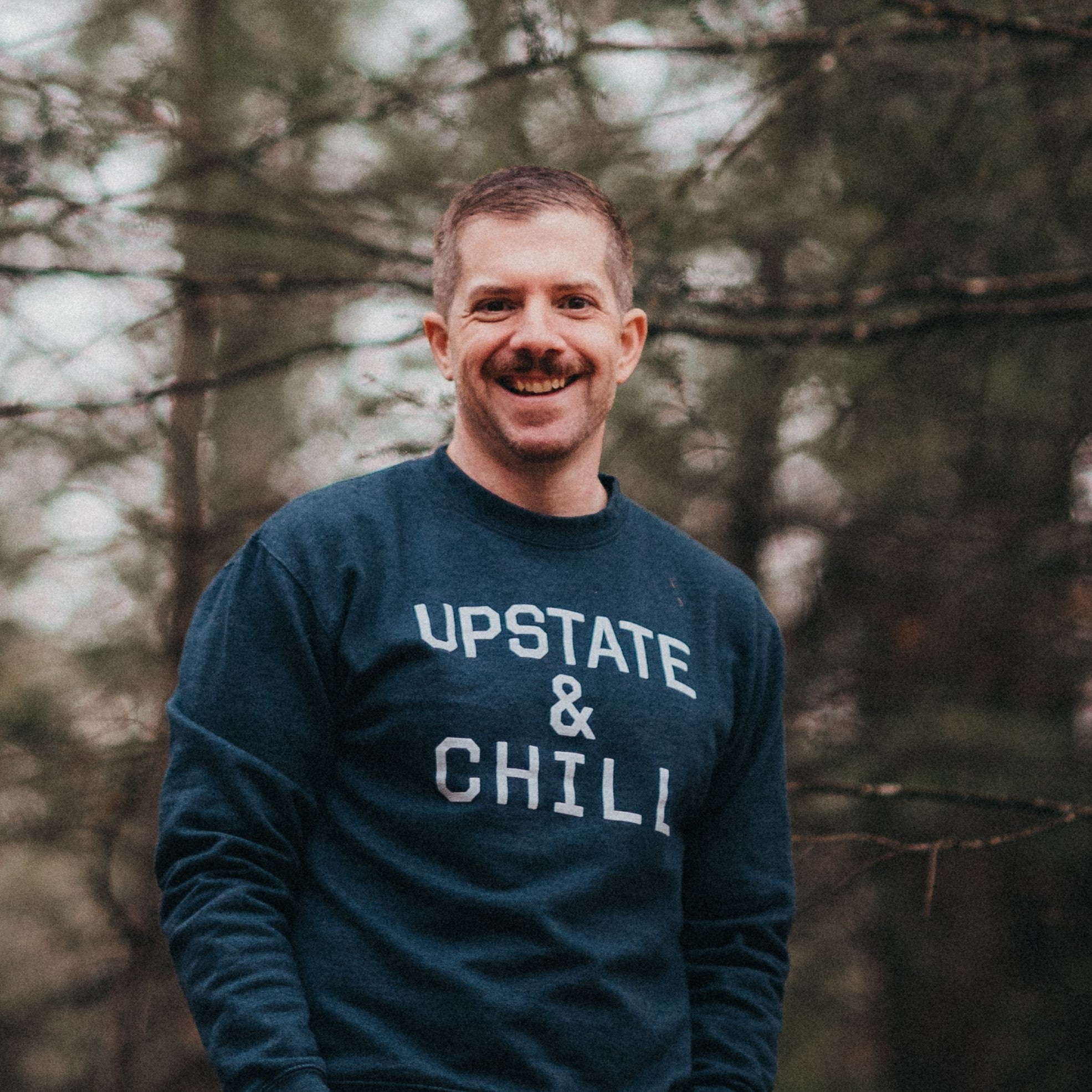 Upstate & Chill - Crewneck - Heather Navy