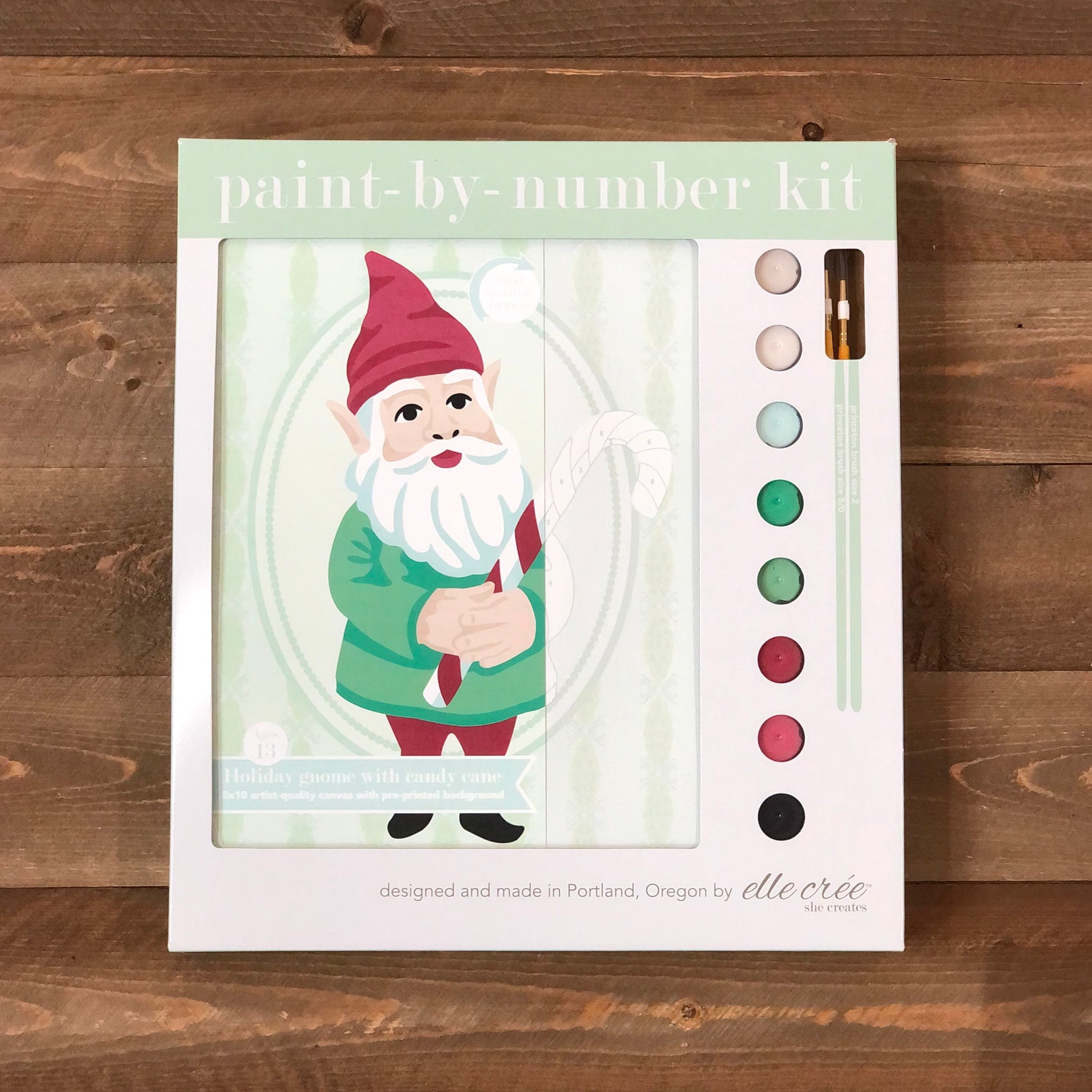 Holiday Gnome Paint By Number Kit