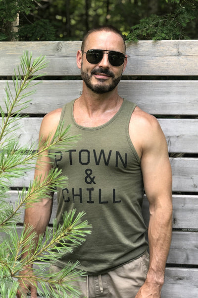 Ptown & Chill - Tank - Olive