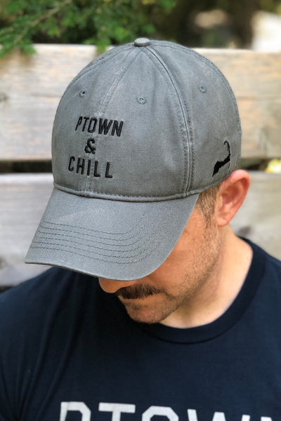 Ptown & Chill - Washed Twill Hat