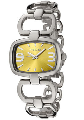 Invicta 0035 Women's Wildflower Collection Yellow Dial Stainless Steel Watch