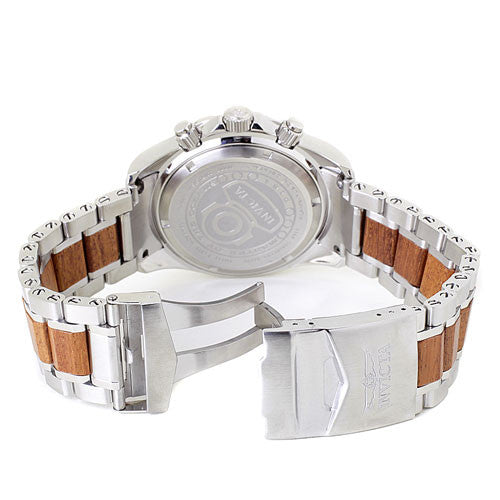 Invicta 0164 Men's Pro Diver Collection Chronograph Wood and Stainless Steel Watch