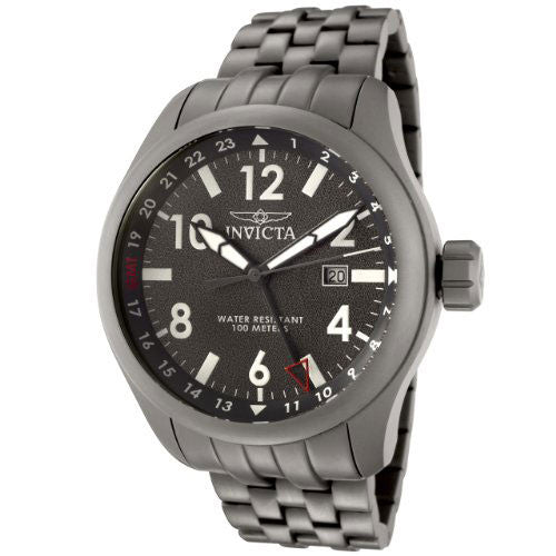 Invicta 0192 Men's Force Collection Gray Dial Matte Gray Stainless Steel Watch