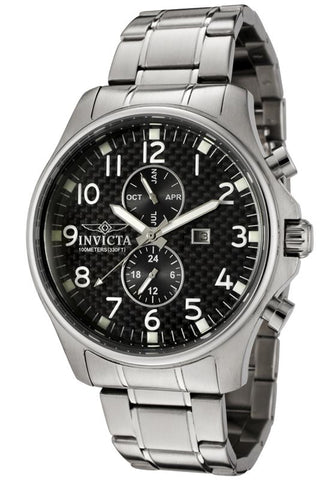 Invicta 0365 Men's II Collection Swiss Black Dial Stainless Steel Watch