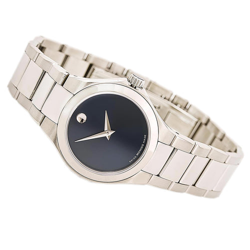 Movado 0606336 Women's Defio Blue Dial Stainless Steel Bracelet Watch