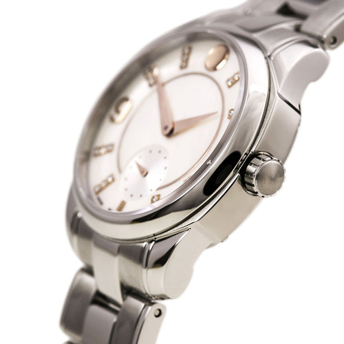 Movado 606619 Women's LX Diamond Accented White MOP Dial Steel Bracelet Watch