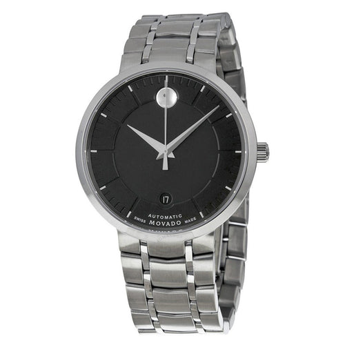 Movado 0606914 Men's 1881 Automatic Black Dial Stainless Steel Bracelet Watch