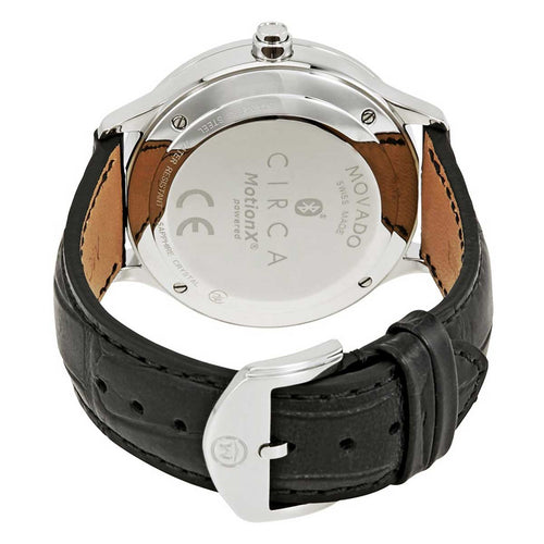 Movado 0660007 Men's Circa Motion Beige Dial Black Leather Strap Smartwatch