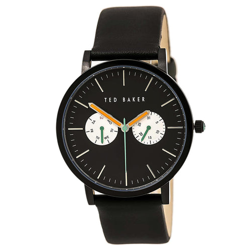 Ted Baker 10009301 Men's Jaknite Black Dial Black Leather Strap Watch