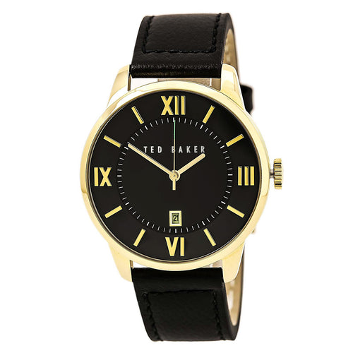 Ted Baker 10015153 Men's Dress Sport Black Dial Black Leather Strap Watch