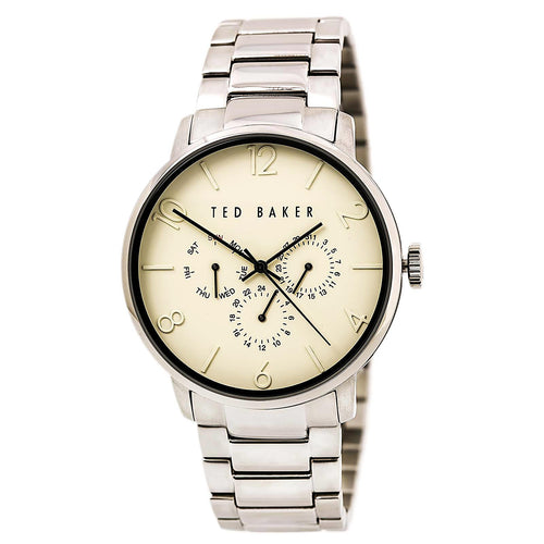 Ted Baker 10023494 Men's Grancan Beige Dial Stainless Steel Bracelet Watch