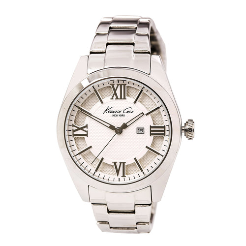Kenneth Cole 10023856 Women's Dress Sport Silver Dial Stainless Steel Watch