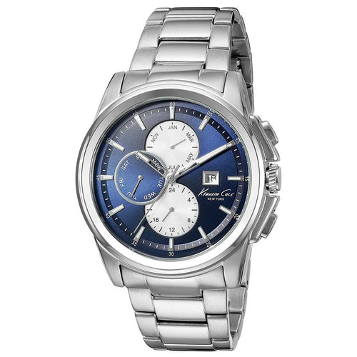Kenneth Cole 10025241 Men's Dress Sport Blue Dial Stainless Steel Bracelet Watch