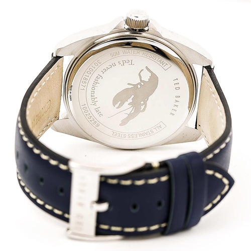 Ted Baker 10025259 Men's Vintage Blue Dial Blue Leather Strap Watch