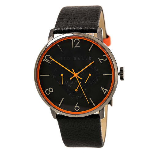 Ted Baker 10029566 Men's Smart Casual Black Dial Black Leather Strap Watch