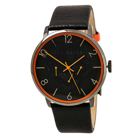 Ted Baker 10023464 Men's Dress Sport Silver Tone Dial Brown Leather Strap Watch