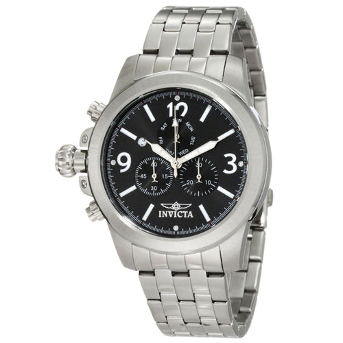 invicta lefty watches on discount watch store invicta 10054 men s specialty lefty black dial steel bracelet chronograph watch