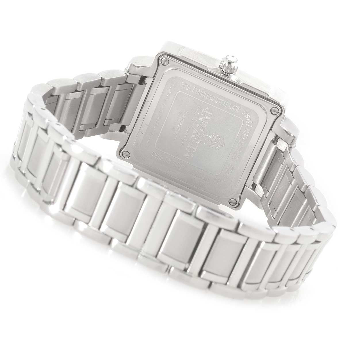 Invicta 10669 Women's Wildflower Diamond Accented Bezel White Dial Steel Bracelet Watch