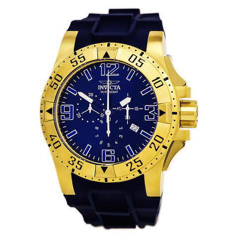 Invicta 0070 Men's Pro Diver Blue Dial Chronograph Stainless Steel Dive Watch