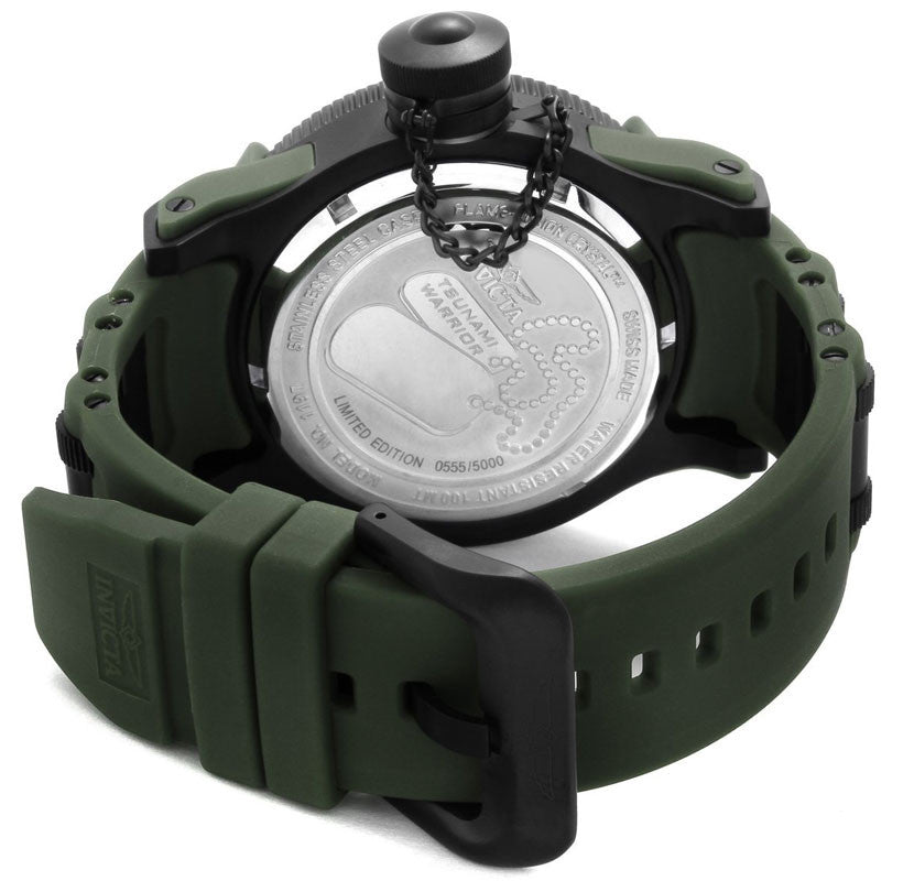 Invicta 1197 Men's Green Camouflage Dial Rubber Strap Watch