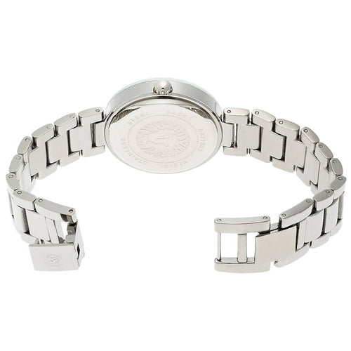 Anne Klein 1363SVSV Women's Silver Tone Dial Steel Bracelet Diamond Watch