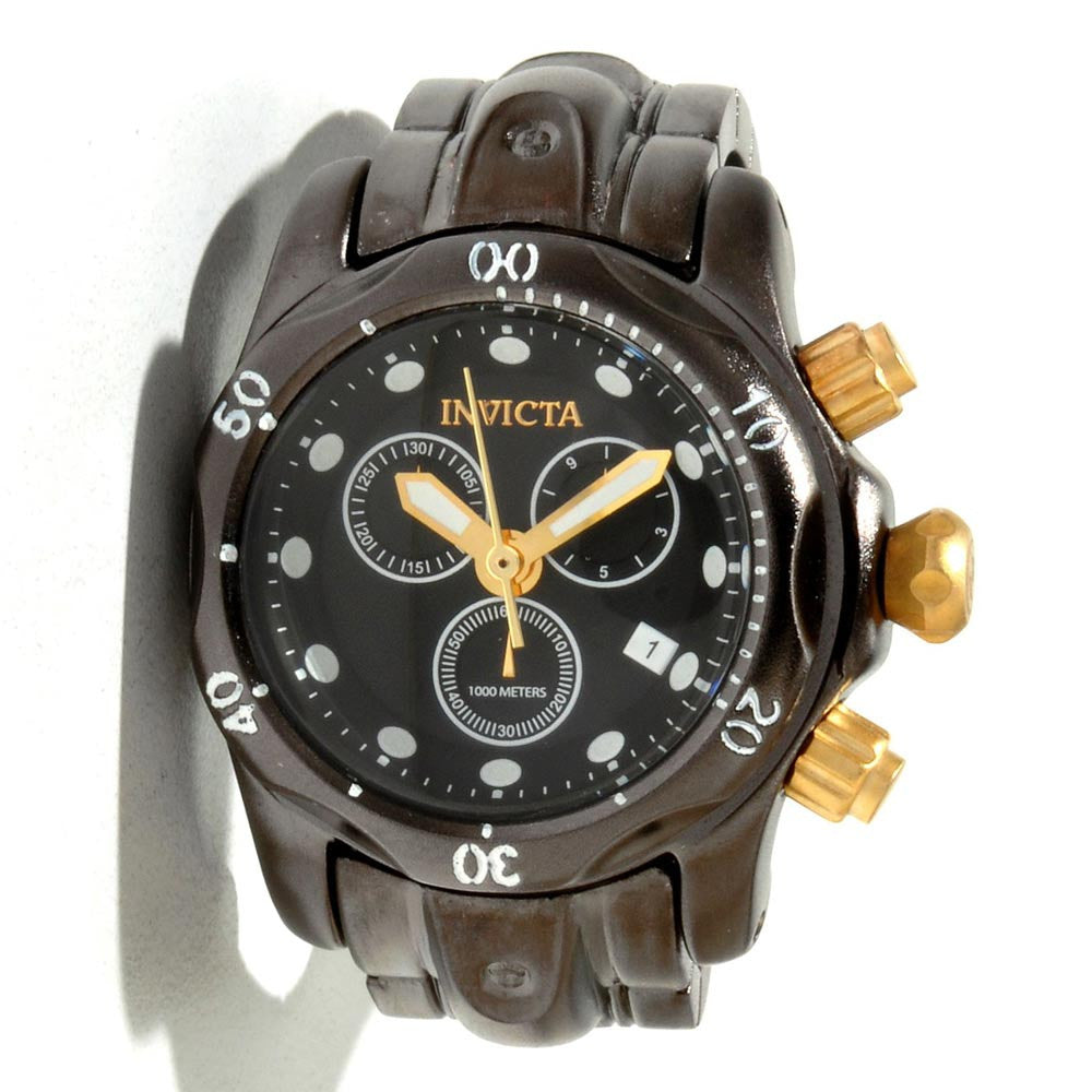 Invicta 13812 Miniature Venom Gunmetal IP Stainless Steel Gunmetal Dial Desk Clock