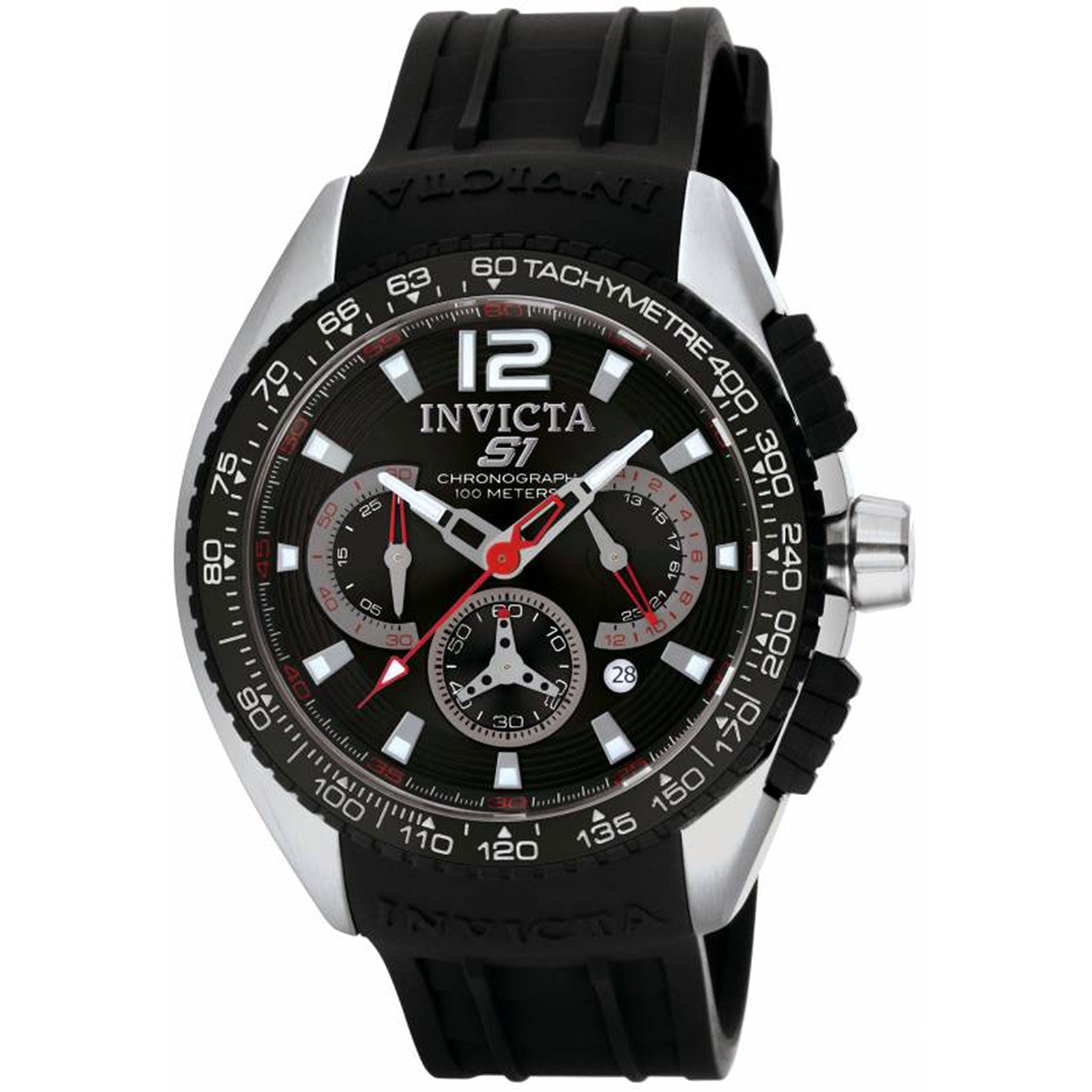 Invicta 1453 Men's S1 Racing Black Dial Chronograph Watch