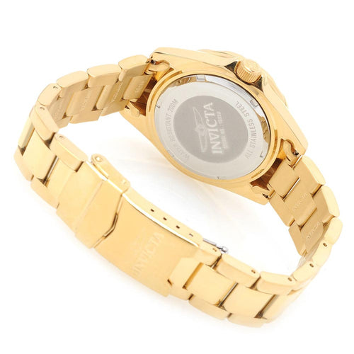 Invicta 15252 Women's Pro Diver Quartz Gold Tone Dial Gold Tone Steel Crystal Accented Dive Watch