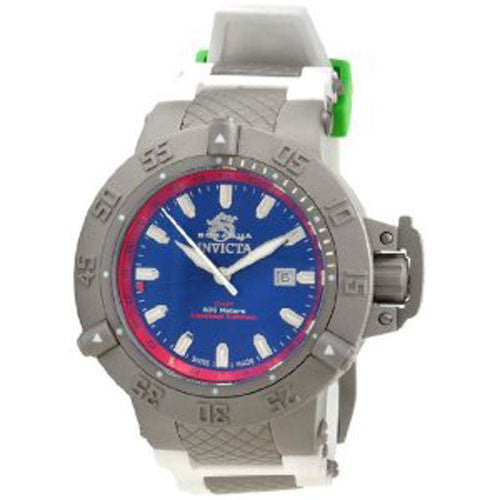 Invicta 1586 Men's Subaqua Noma GMT White Rubber Strap Dive Watch
