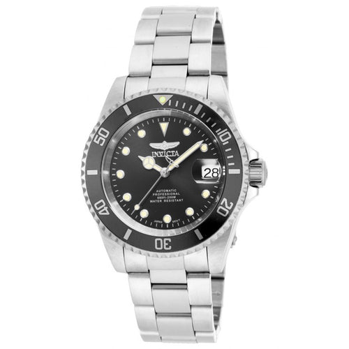 Invicta 17044 Men's Pro Diver Black Dial Stainless Steel Automatic Dive Watch