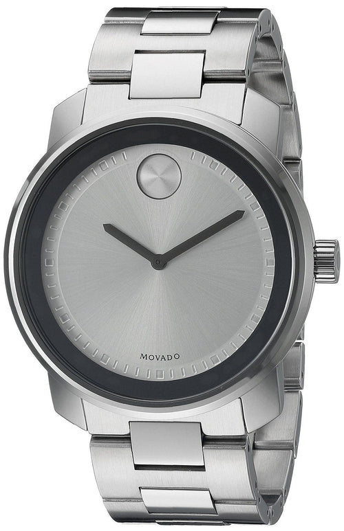 Movado Bold Men's 3600257 Silver Dial Stainless Steel Watch