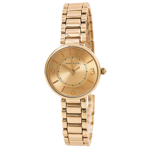 Anne Klein 1870RGRG Women's Quartz Rose Gold Dial Rose Gold Steel Watch