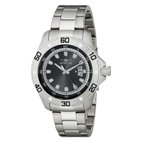 Invicta 19263 Men's Pro Diver Quartz Black Dial Stainless Steel Bracelet Watch