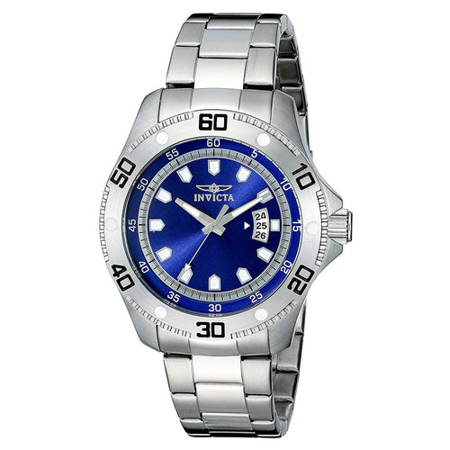 Invicta 19264 Men's Pro Diver Quartz Blue Dial Stainless Steel Bracelet Watch