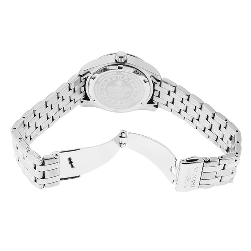 Invicta 20526 Women's Wildflower Silver Tone Dial Stainless Steel Bracelet Crystal Watch