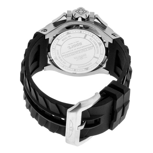 Invicta 23039 Men's Excursion Sport Black & Silver Dial Black Silicone Strap Chronograph Watch
