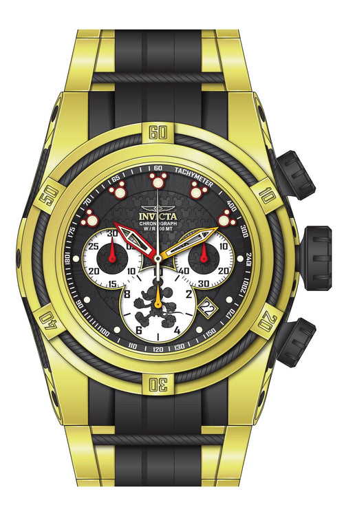 Invicta 23237 Men's Disney Bolt Zeus Yellow Steel & Black Silicone Strap Chronograph Dive Watch