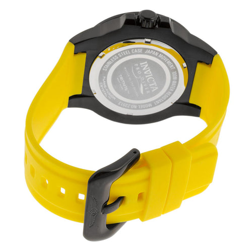 Invicta 23513 Men's Pro Diver Black Dial Yellow Polyurethane Strap Quartz Watch