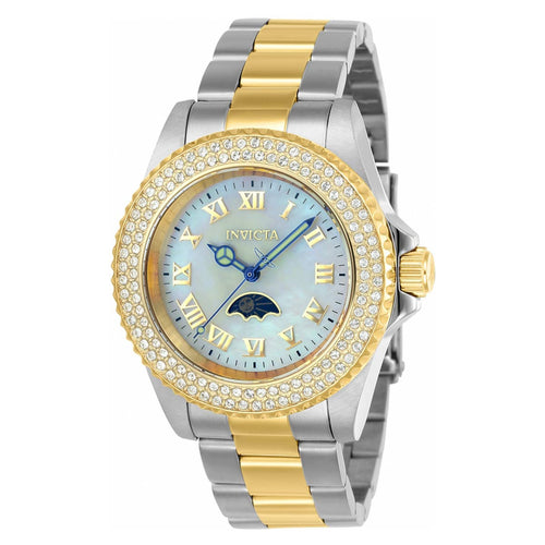 Invicta 23831 Women's Sea Base Crystal White MOP Dial Two Tone Steel Dive Watch