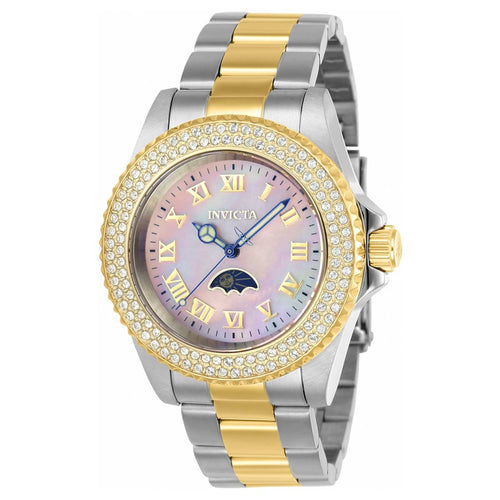 Invicta 23832 Women's Sea Base Crystal Accented Bezel MOP Dial Two Tone Steel Dive Watch