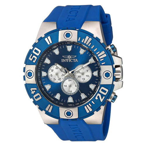 Invicta 23968 Men's Pro Diver Blue Dial Blue Polyurethane Strap Quartz Watch