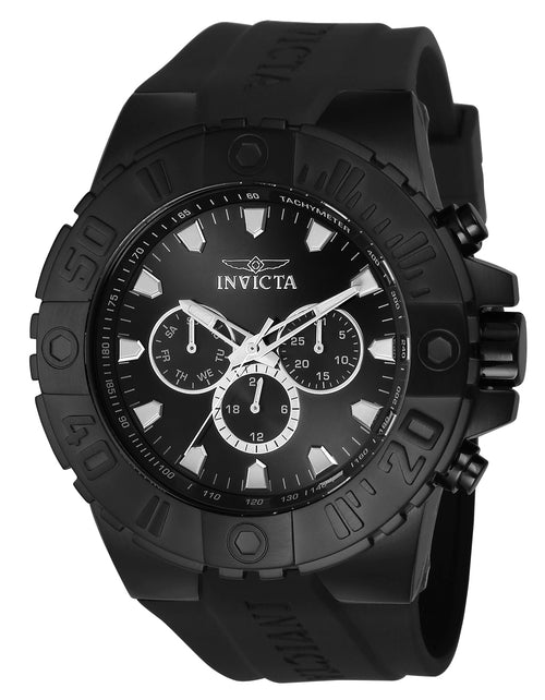 Invicta 23973 Men's Pro Diver Black Dial Black Polyurethane Strap Watch
