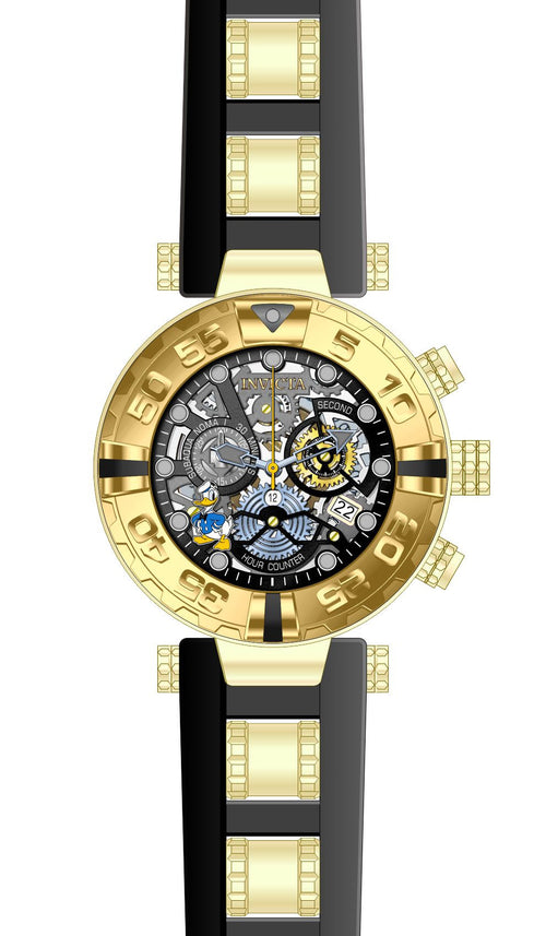 Invicta 24510 Men's Disney Subaqua Noma I Yellow Steel & Silicone Strap Chronograph Dive Watch