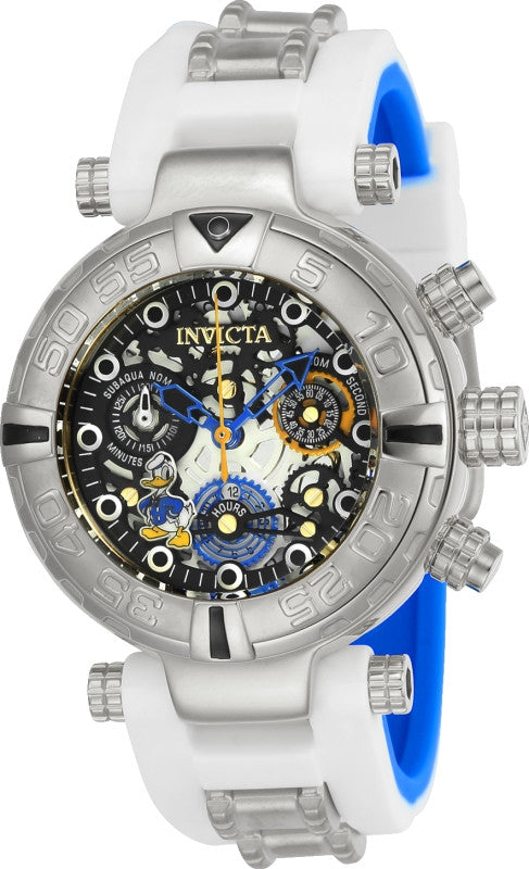 Invicta 24511 Women's Disney Subaqua Noma Skeleton Dial Steel & Silicone Strap Chrono Dive Watch