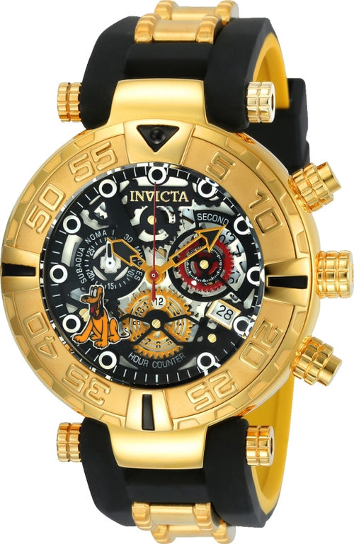 Invicta 24518 Men's Disney Subaqua Noma I Chronograph Yellow Steel & Silicone Strap Dive Watch