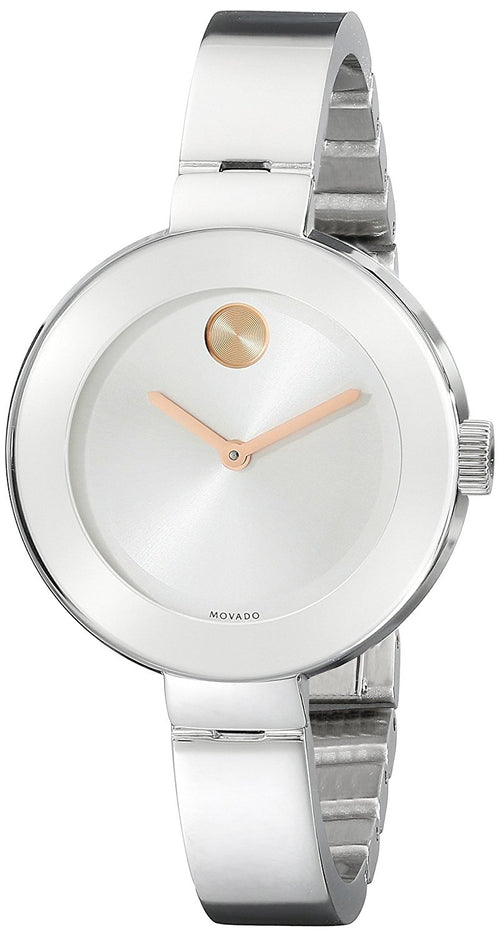 Movado Bold Silver Dial Stainless Steel Ladies Watch 3600194