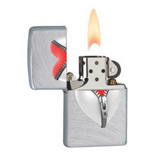 Zippo 28327 Classic Chrome Arch Heart In Zip Windproof Pocket Lighter