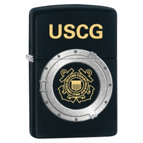 Zippo 28623 Classic USCG Black Matte Windproof Pocket Lighter